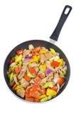 Carne de porco e vegetais fritados Stir Foto de Stock Royalty Free