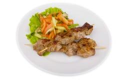 Carne de porco em uma grade Fotografia de Stock Royalty Free