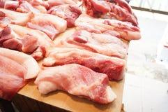 Carne de porco fresca Fotos de Stock