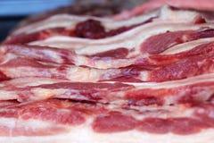 Carne de porco fresca no mercado Imagem de Stock Royalty Free