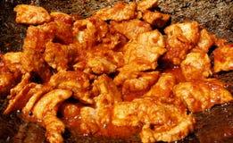 Carne de porco Fried Eggplant Curry fotos de stock