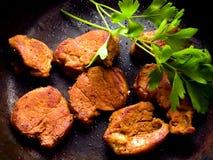 Carne de porco fritada Imagens de Stock Royalty Free