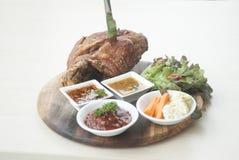 Carne de porco fritada Imagens de Stock