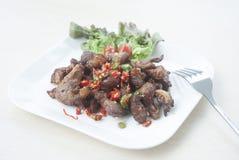 Carne de porco fritada Fotos de Stock Royalty Free