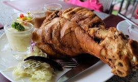 Carne de porco fritada imagem de stock royalty free