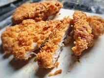 Carne de porco fritada foto de stock