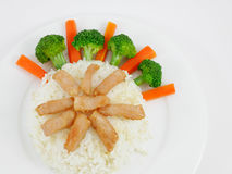 Carne de porco fritada tailandesa no arroz Fotografia de Stock Royalty Free