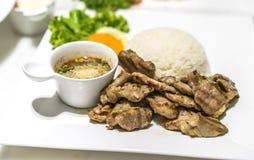 Carne de porco grelhada Imagens de Stock Royalty Free