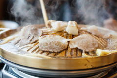Carne de porco grelhada Fotos de Stock