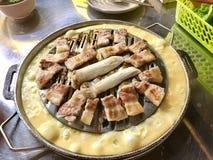 Carne de porco grelhada, alimento coreano delicioso imagens de stock royalty free