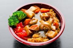 Carne de porco Katsu Bowl de Kurobuta Foto de Stock
