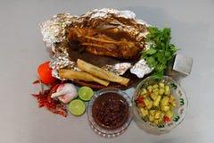 Carne de porco mexicana do alimento posta de conserva fotografia de stock royalty free