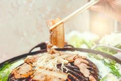 Carne de porco, muito agradável para comer Fotografia de Stock Royalty Free