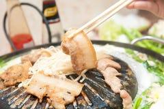 Carne de porco, muito agradável para comer Fotos de Stock