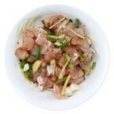 Carne de porco na bacia Imagens de Stock Royalty Free