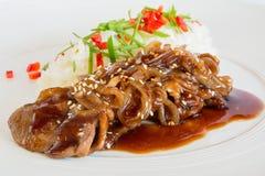 Carne de porco no molho do agridoce Fotos de Stock