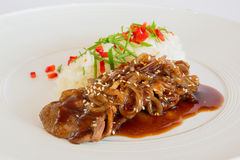 Carne de porco no molho do agridoce Foto de Stock Royalty Free