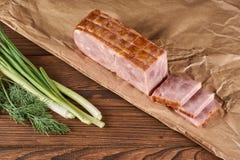 Carne de porco no papel de embalagem foto de stock royalty free