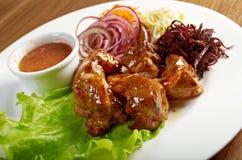 Carne de porco que faz roasted Imagem de Stock