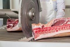 Carne de porco que processa a indústria alimentar da carne Imagem de Stock Royalty Free