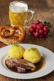 Carne de porco roasted Bavarian imagens de stock
