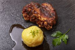Carne de porco roasted Bavarian fotografia de stock royalty free