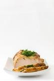 Carne de porco Roasted isolada imagens de stock