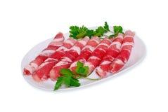 A carne de porco rola com salsa Fotos de Stock