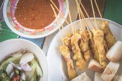 Carne de porco satay Imagem de Stock