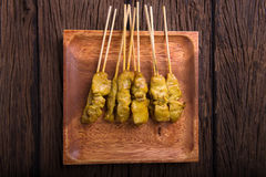 Carne de porco satay Foto de Stock
