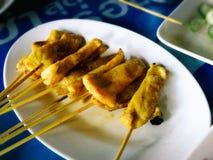 Carne de porco tailandesa Satay Imagens de Stock Royalty Free