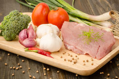 Carne de porco Uncooked Fotos de Stock