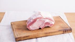 Carne de porco Uncooked Imagem de Stock