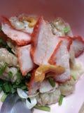 carne de porco vermelha do rost do wonton Imagens de Stock