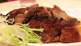 Carne de porco vermelha Roasted Imagens de Stock Royalty Free