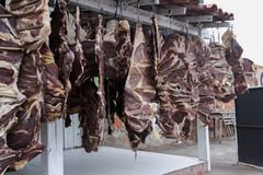 Carne-de-sol in Campo Maior, Pi, Brazil. Carne-de-sol, one of the most iconic ingredients of brazilian cuisine in Campo Maior, Pi, BraziL Stock Photography