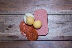 Carne de Turquia com a flor e o broto de soja asiáticos da banana da salada Imagens de Stock Royalty Free