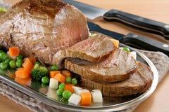 Carne de vaca asada Fotos de archivo