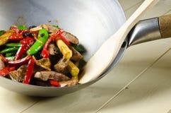 Carne de vaca china en salsa de la haba negra Imágenes de archivo libres de regalías