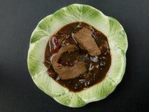 Carne de vaca china en salsa de la haba negra Fotografía de archivo