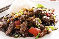 Carne de vaca china en salsa picante fotografía de archivo libre de regalías