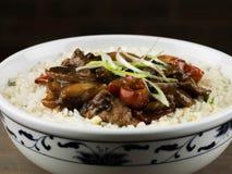 Carne de vaca china y negro Bean Stir Fry Meal Imagen de archivo libre de regalías