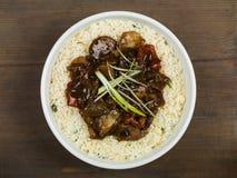 Carne de vaca china y negro Bean Stir Fry Meal Fotos de archivo
