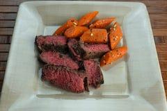 Carne de vaca con las verduras Imagenes de archivo