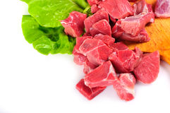 Carne de vaca con lechuga Foto de archivo libre de regalías