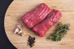 Carne de vaca cortada deliciosa Fotografía de archivo libre de regalías