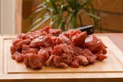 Carne de vaca cortada en cuadritos Imágenes de archivo libres de regalías