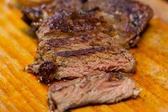 Carne de vaca cortada hecho Fotografía de archivo libre de regalías