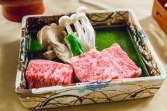 Carne de vaca cruda de Hida Imágenes de archivo libres de regalías