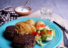Carne de vaca danesa de la hamburguesa Fotos de archivo